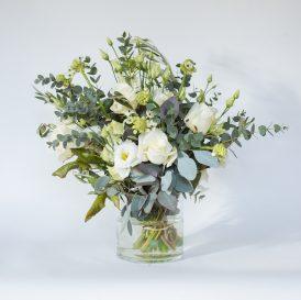 Floom Rose Mary Small White Vase 1