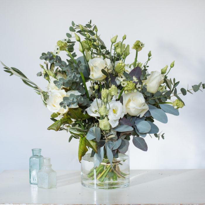 Floom Rose Mary Small White Vase 2