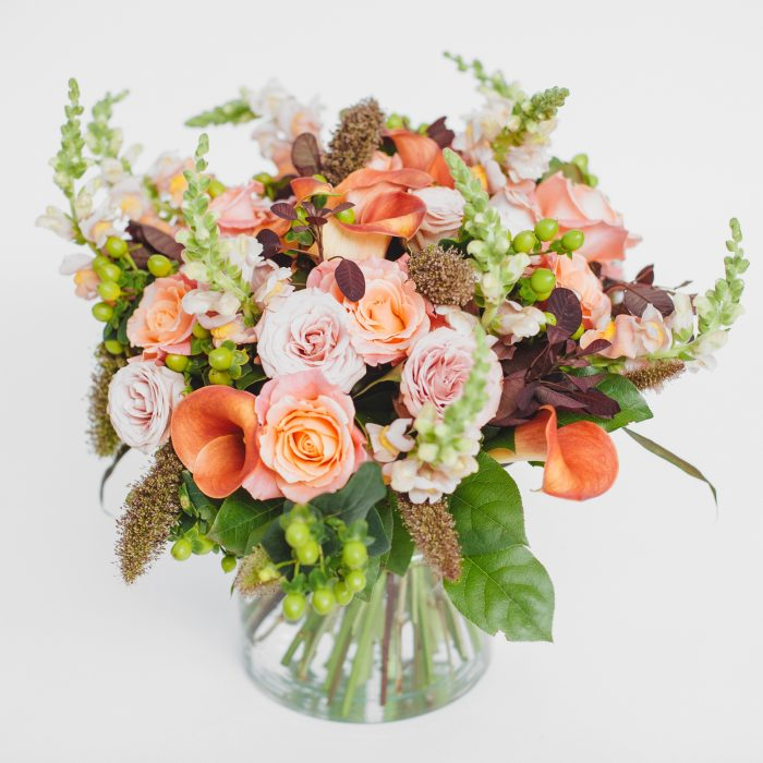 Floom The White Orchid Peach Rose Stock 1