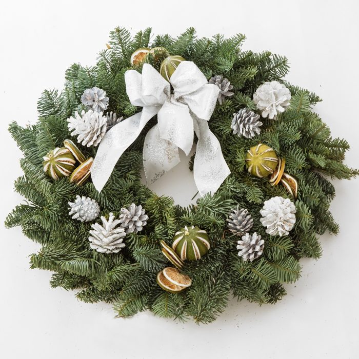 Floom Queens Park Station Flowers Christmas Wreath White Lime 1