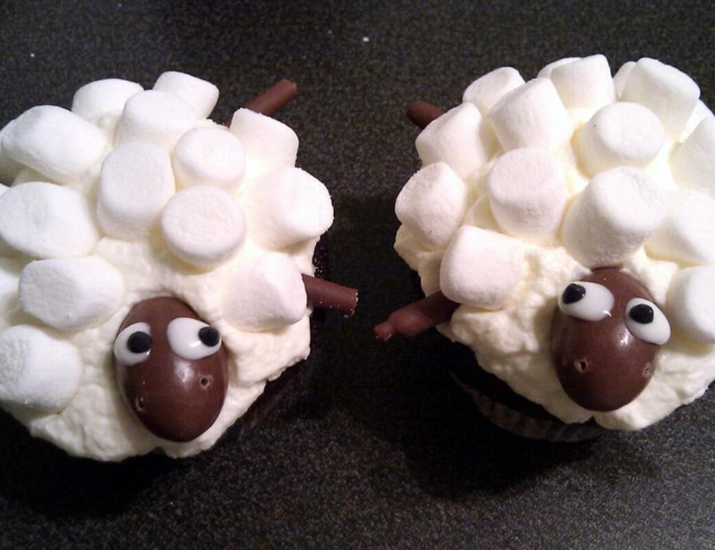 Rezept Fur Sheep Cupcakes Fur Kinder Oder Zum Geburtstag