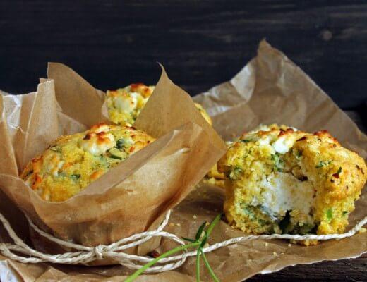 Polenta Bärlauch Muffins mit Feta Creme {flowers on my plate}