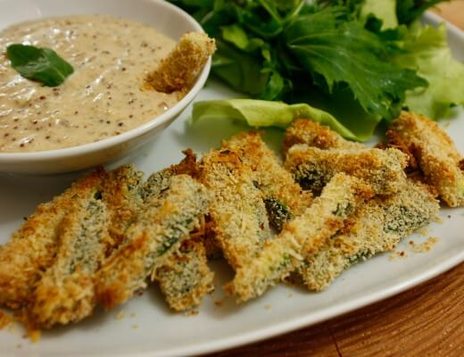 Gebackene Zucchini Sticks Rezept {flowers on my plate}