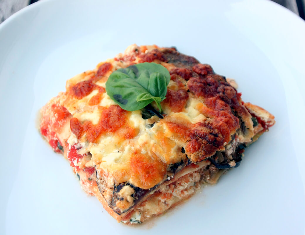 rezept f r lasagne mit ofenger stetem gem se. Black Bedroom Furniture Sets. Home Design Ideas