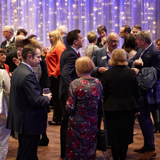 Guests network during the whitepaper launch
