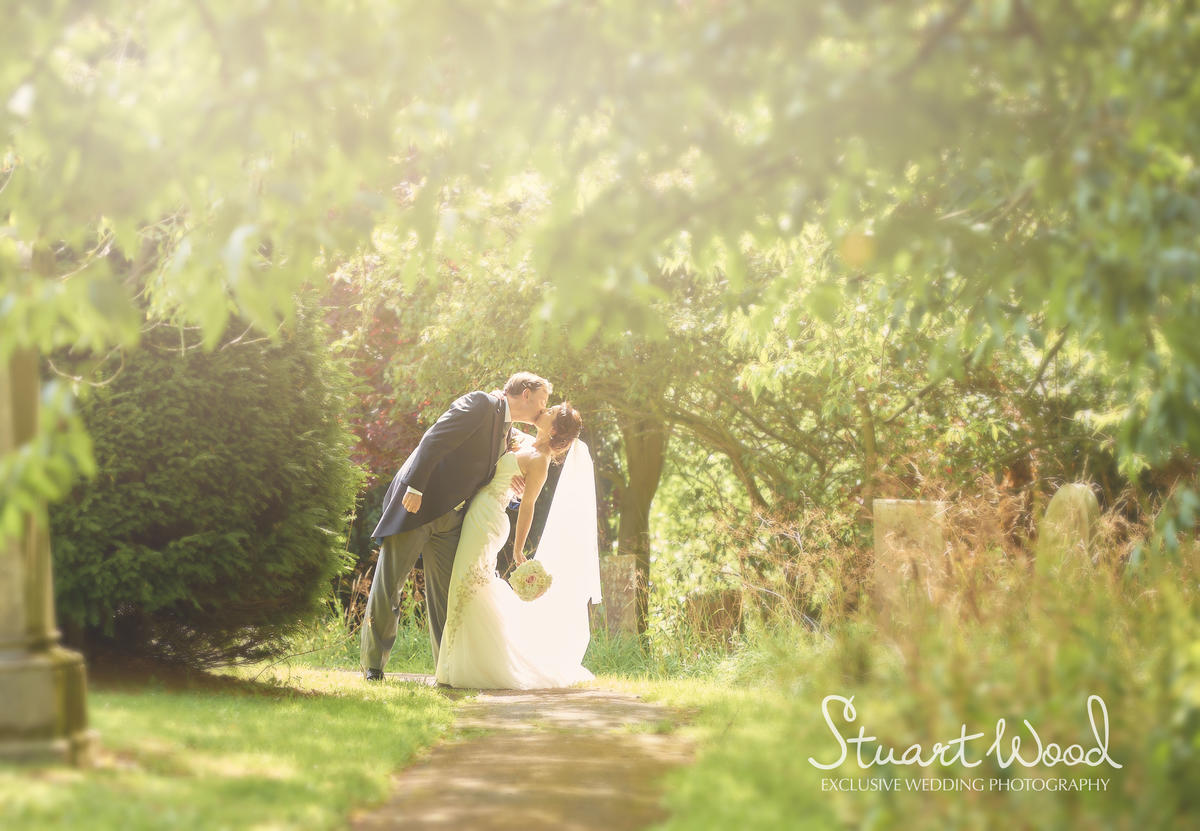 Stuart Wood Weddings / New Bath Hotel Matlock Weddings / Simon & Georgina / Kiss In Trees