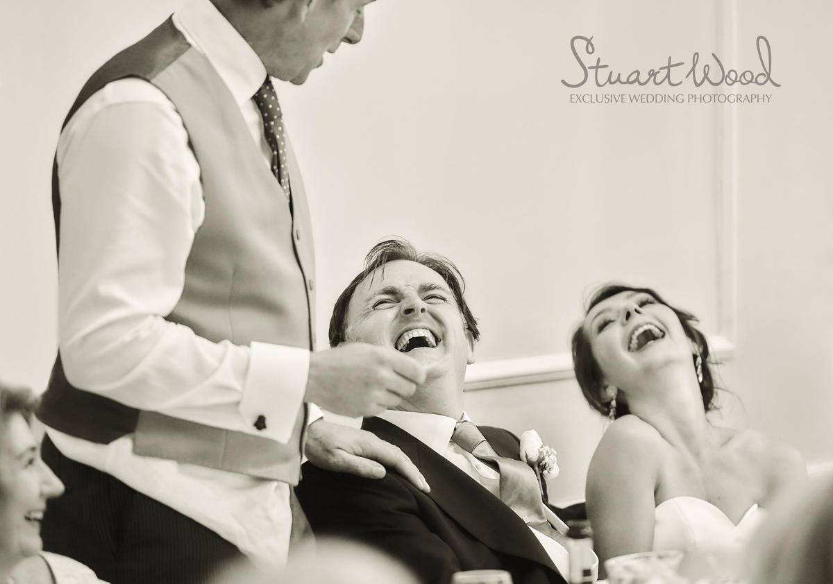 Stuart Wood Weddings / New Bath Hotel Matlock Weddings / Speach