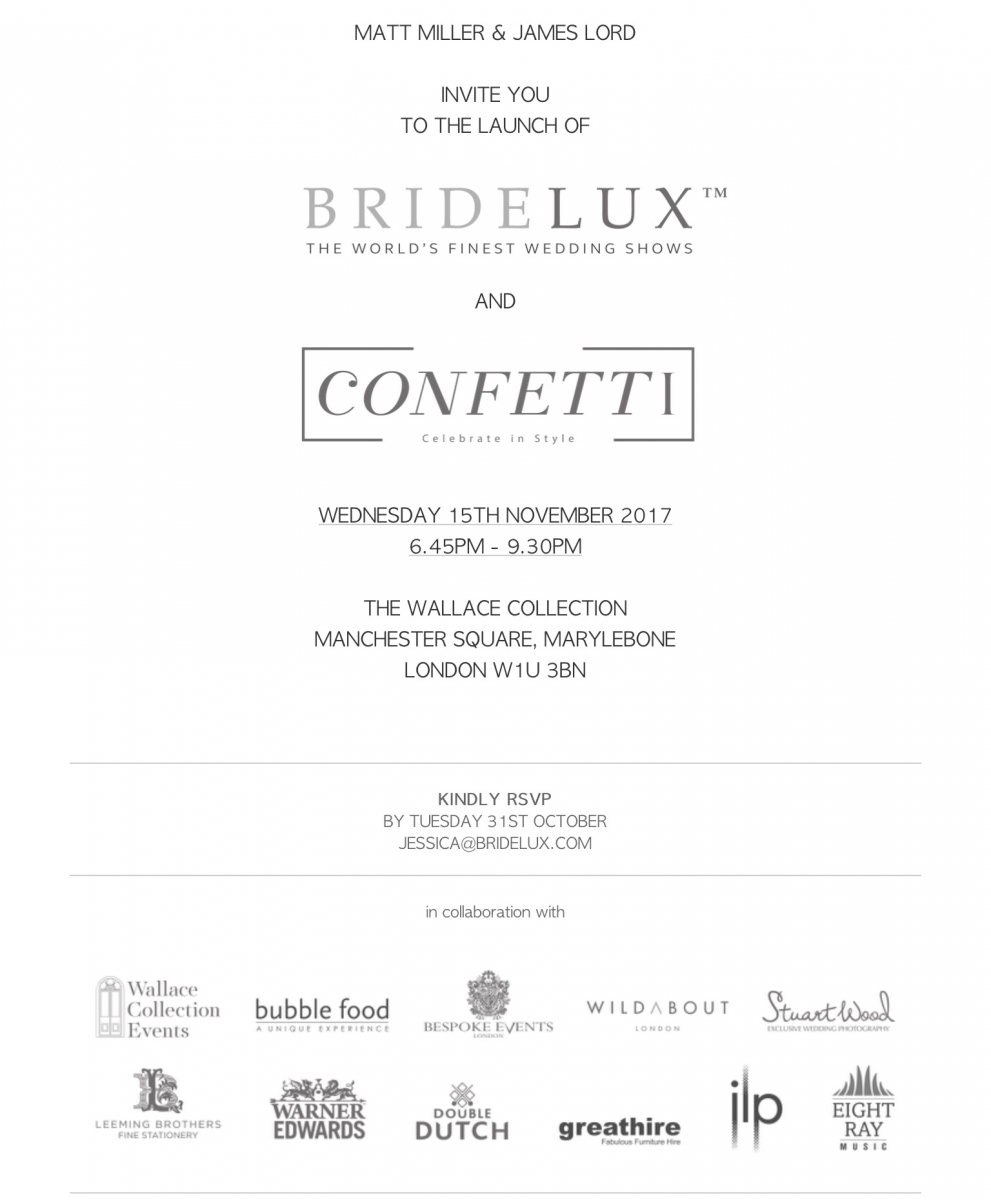 Stuart Wood Weddings / Bridelux / The Wallace Collection