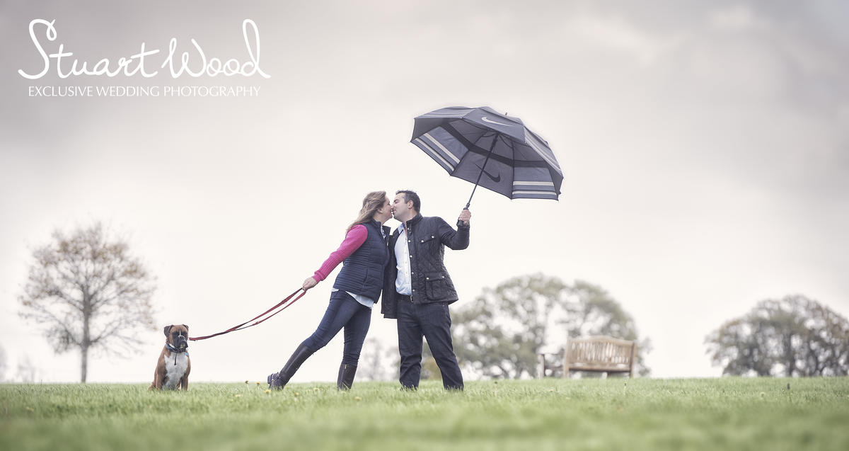 Stuart Wood Weddings / Four Seasons Weddings / Four Seasons Hampshire / Sheryl & Rob Rain Kiss