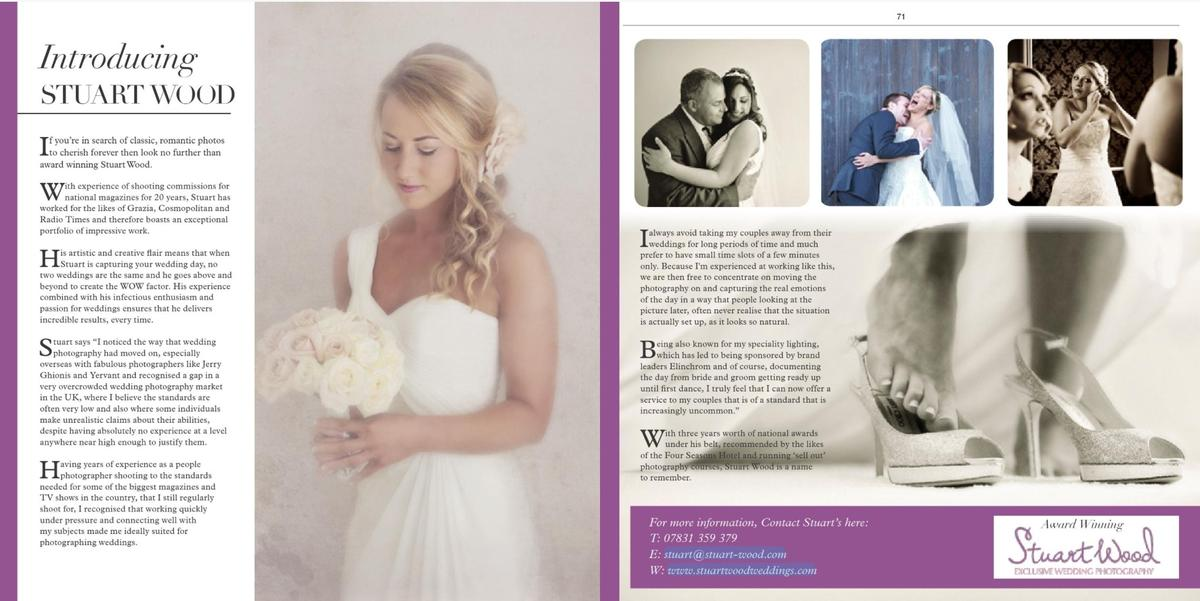 Stuart Wood Weddings / Save the Date Magazine / Feature July 2013