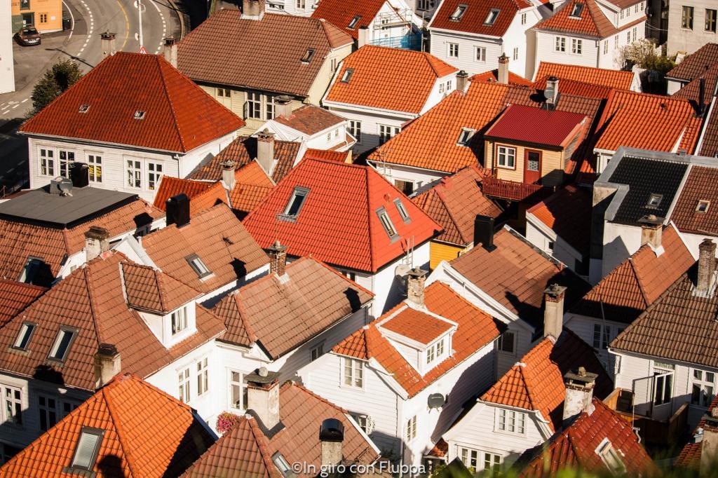 Skuteviken vista dal Bergenhus festning