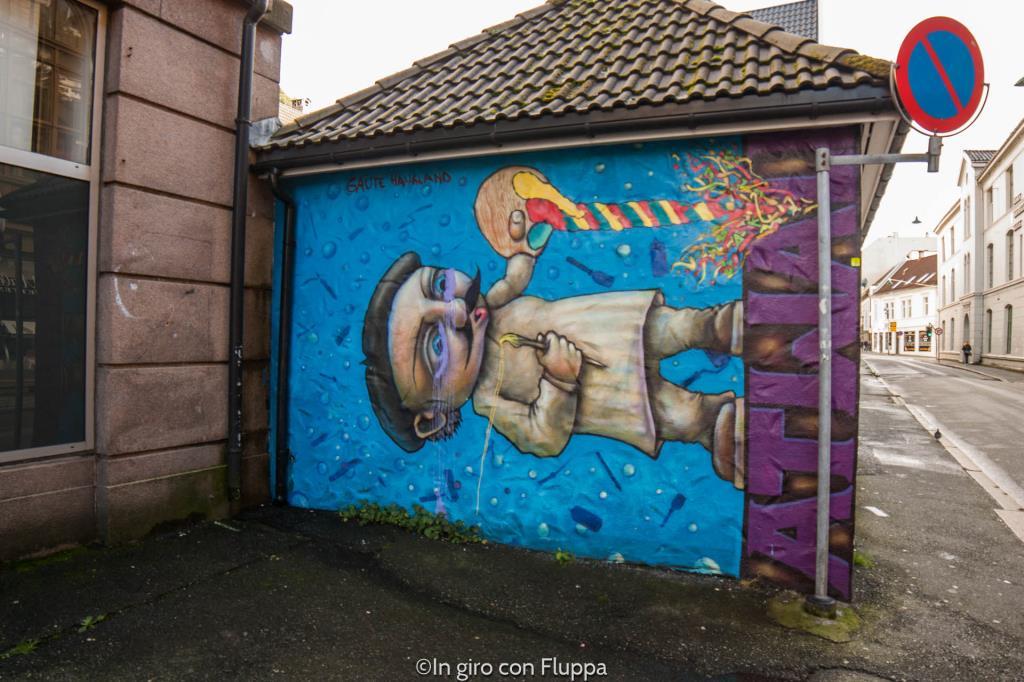 Cosa vedere a Bergen: Skostredet e la street art