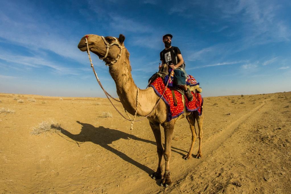 Gianluca Iarlori, cammello nel deserto indiano 2019