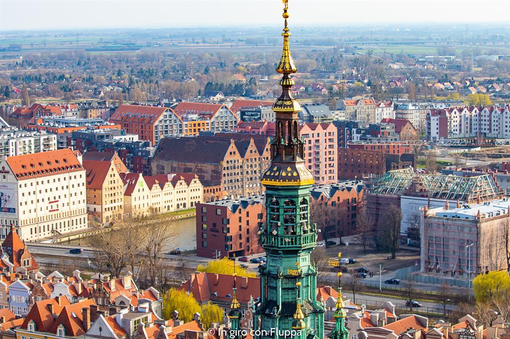 Cosa visitare a Danzica in un giorno: vista dalla torre di Basilika Mariacka