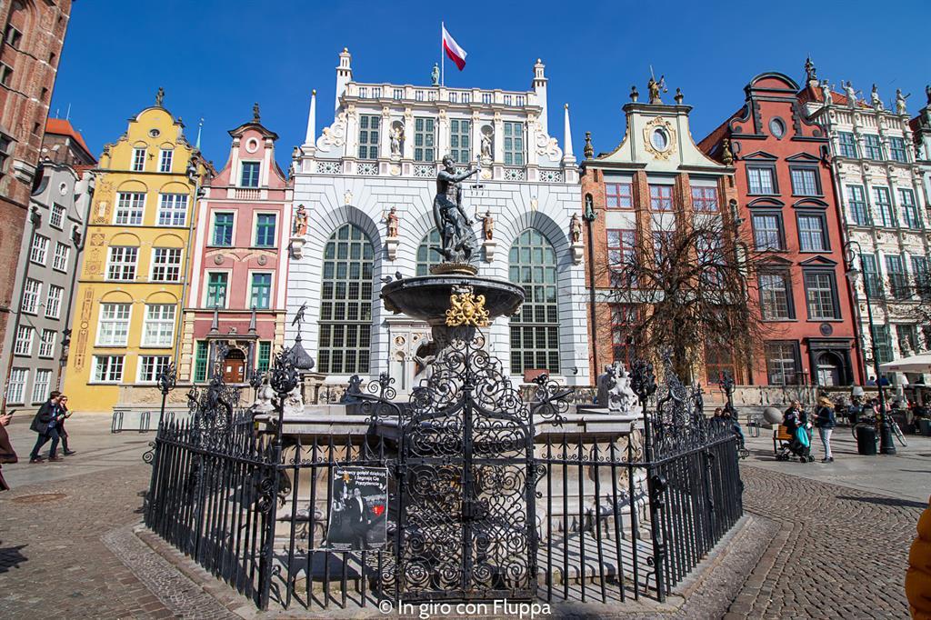 Cosa visitare a Danzica in un giorno: Fontana del Nettuno
