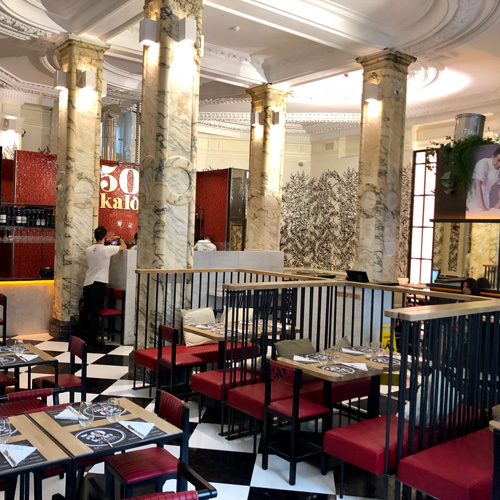 Dove mangiare a Londra: pizzeria 50 Kalo' di Ciro Salvo. Credits: 50kalo.it/gallery_en.php