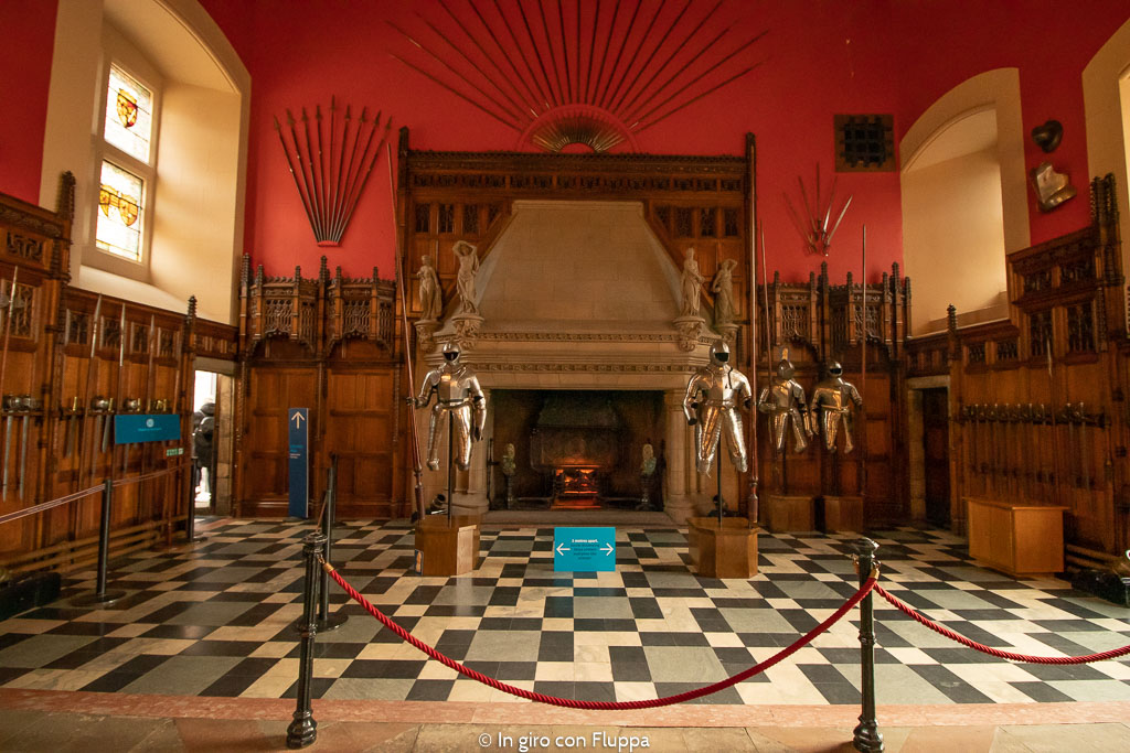 Interni del castello di Edimburgo: la Great Hall