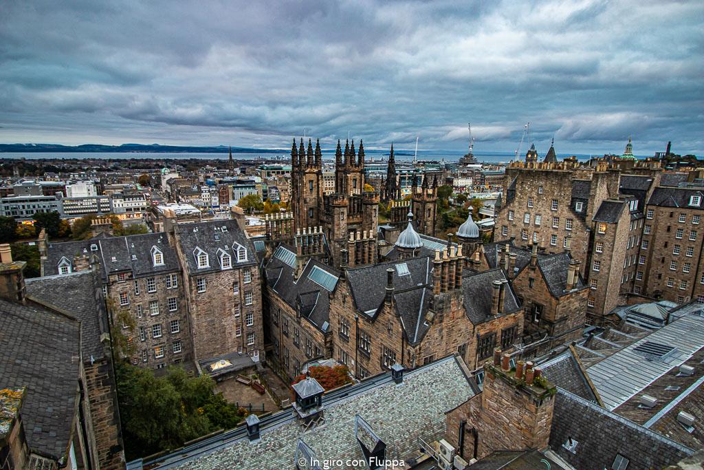 Vista dei tetti di Edimburgo dalla Camera Obscura