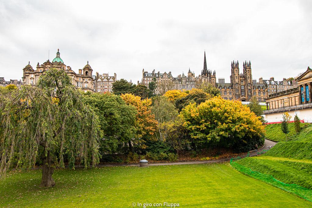 Dove vedere il fogliage a Edimburgo: Princes Street Gardens