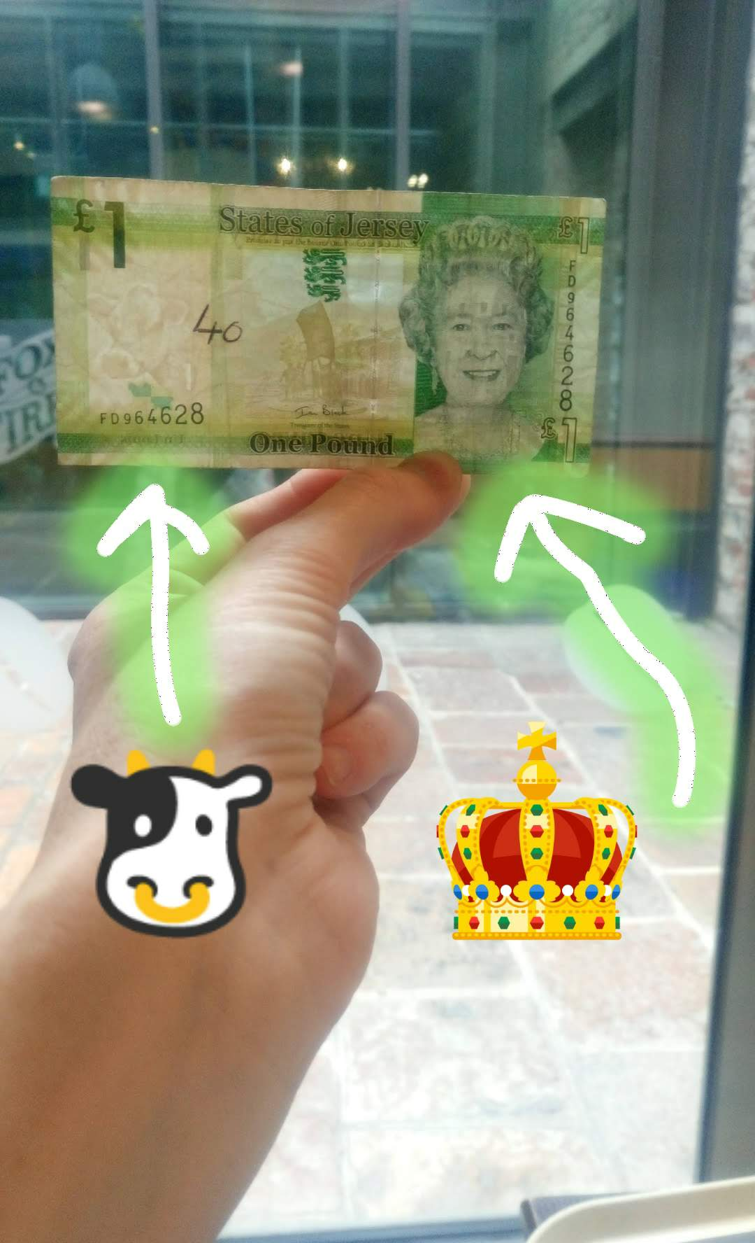 La banconota da £1 di Jersey