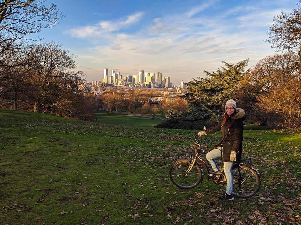 Io in cima al Greenwich Park