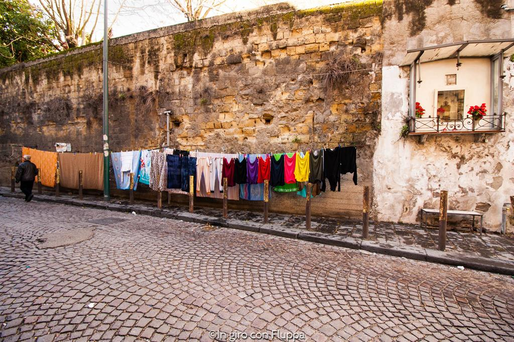 Sanita' district - clothes hanging to dry