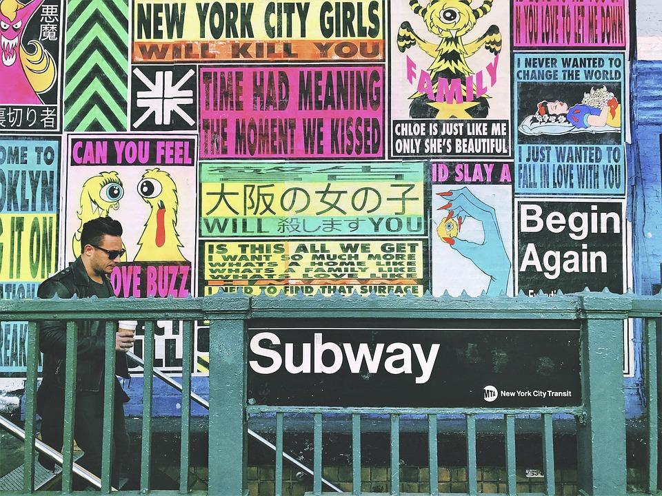 New York subway. Free image from Pixabay