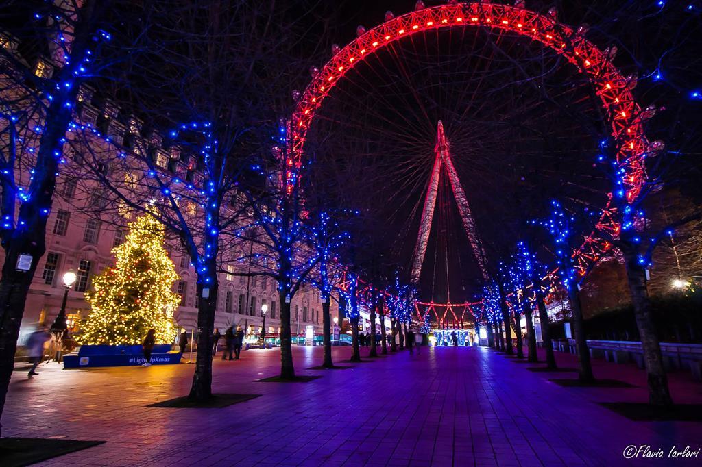 Luci di Natale al London Eye