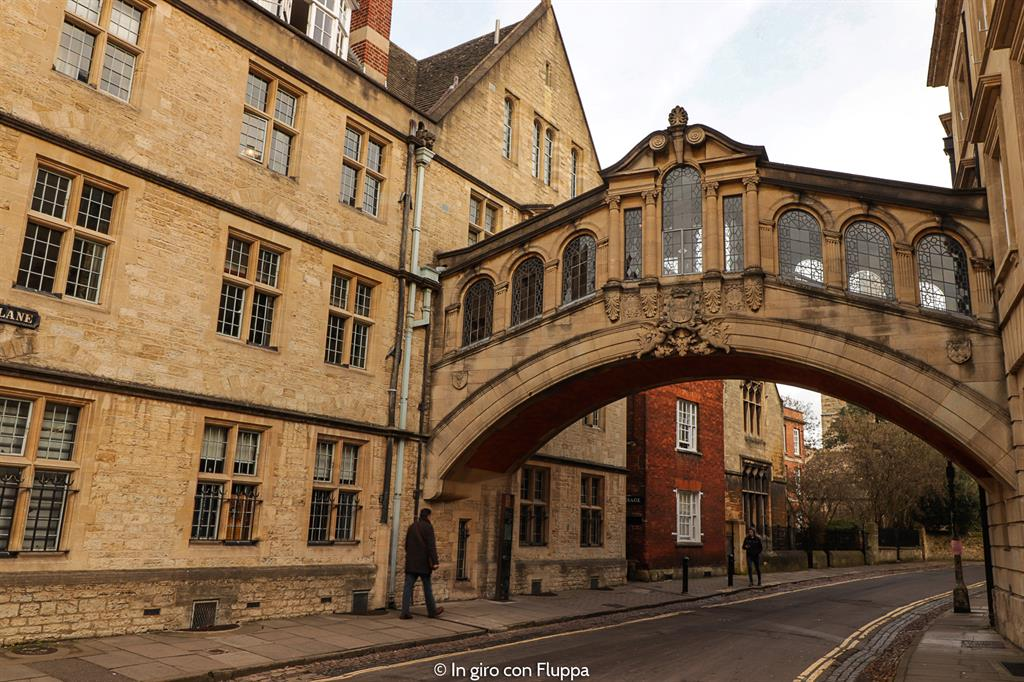 Cosa vedere a Oxford: the Bridge of Sighs