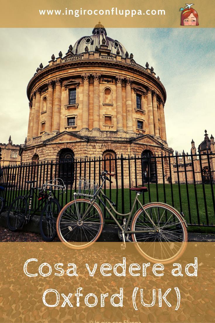 Cosa vedere ad Oxford. Salva l'articolo su Pinterest!