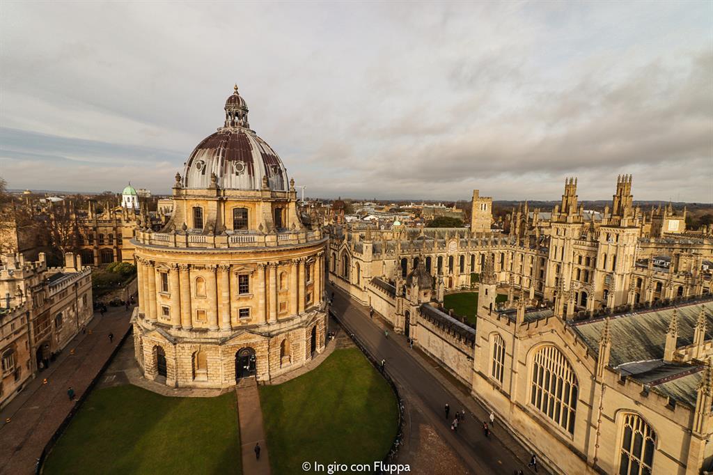 Vista di Oxford dalla torre della University Church