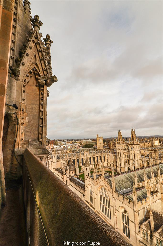 Vista di Oxford dalla torre della University Church