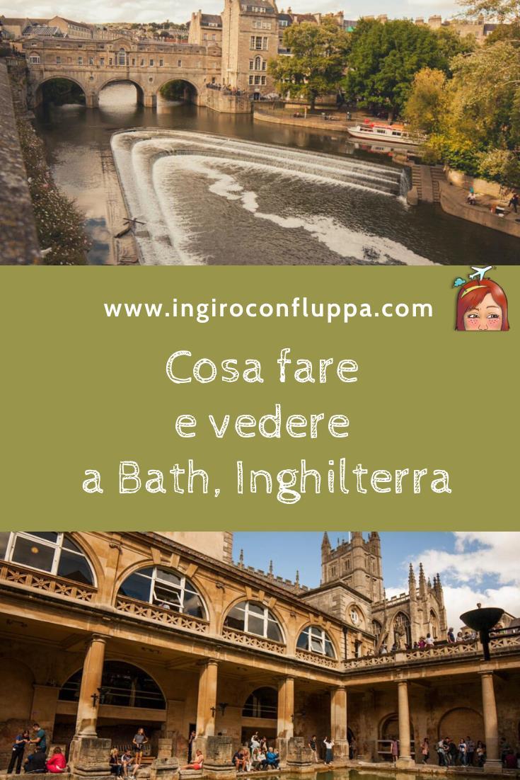 Cosa fare e vedere a Bath, Inghilterra. Salva il post su Pinterest!