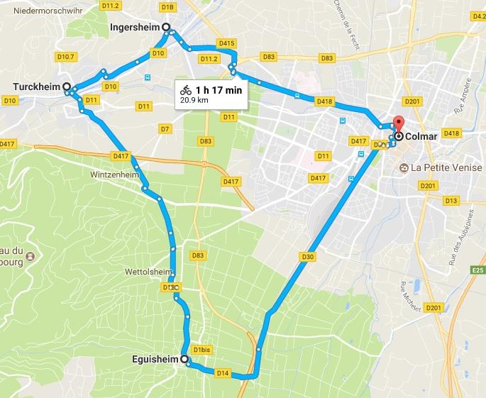 Mappa del nostro tragitto