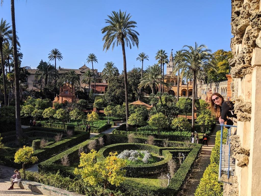 vista dei giardini dalla loggia