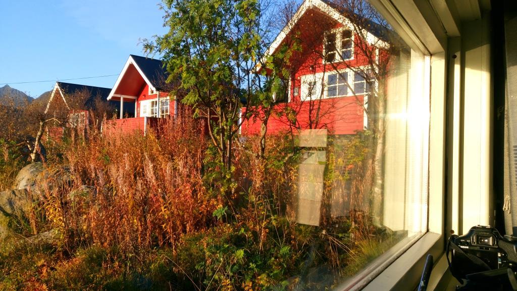Hammerstad Camping: visuale dalla finestra