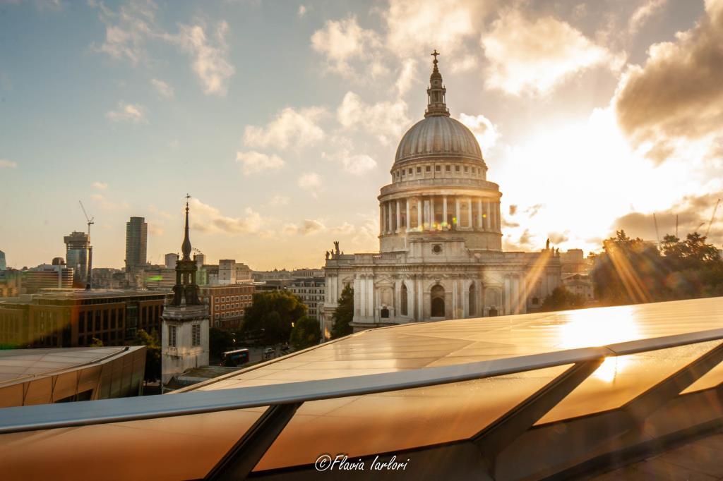La cupola del St.Paul's vista dalla terrazza del centro commerciale One New Change