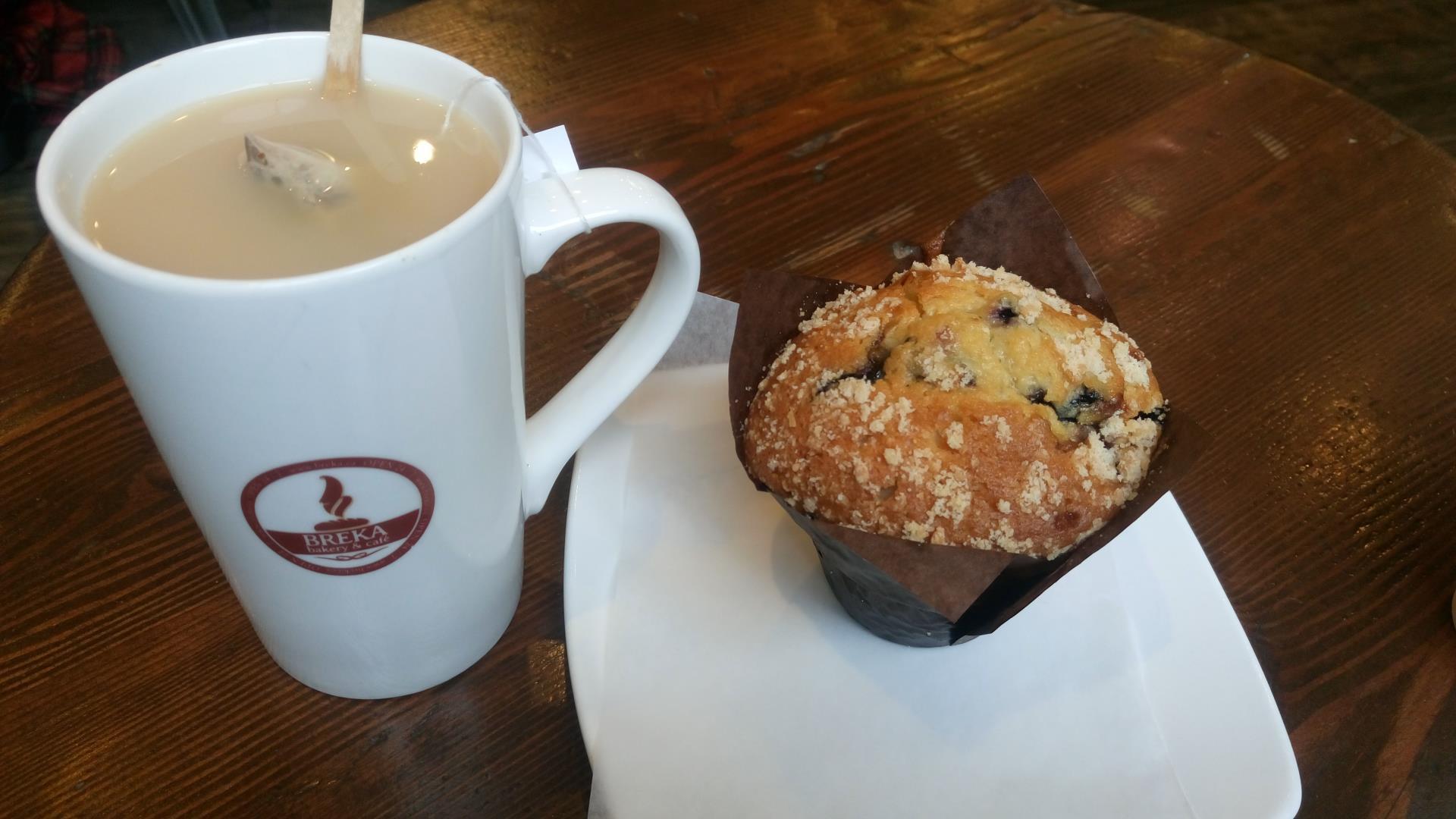 Tea e muffin di Breka, Vancouver