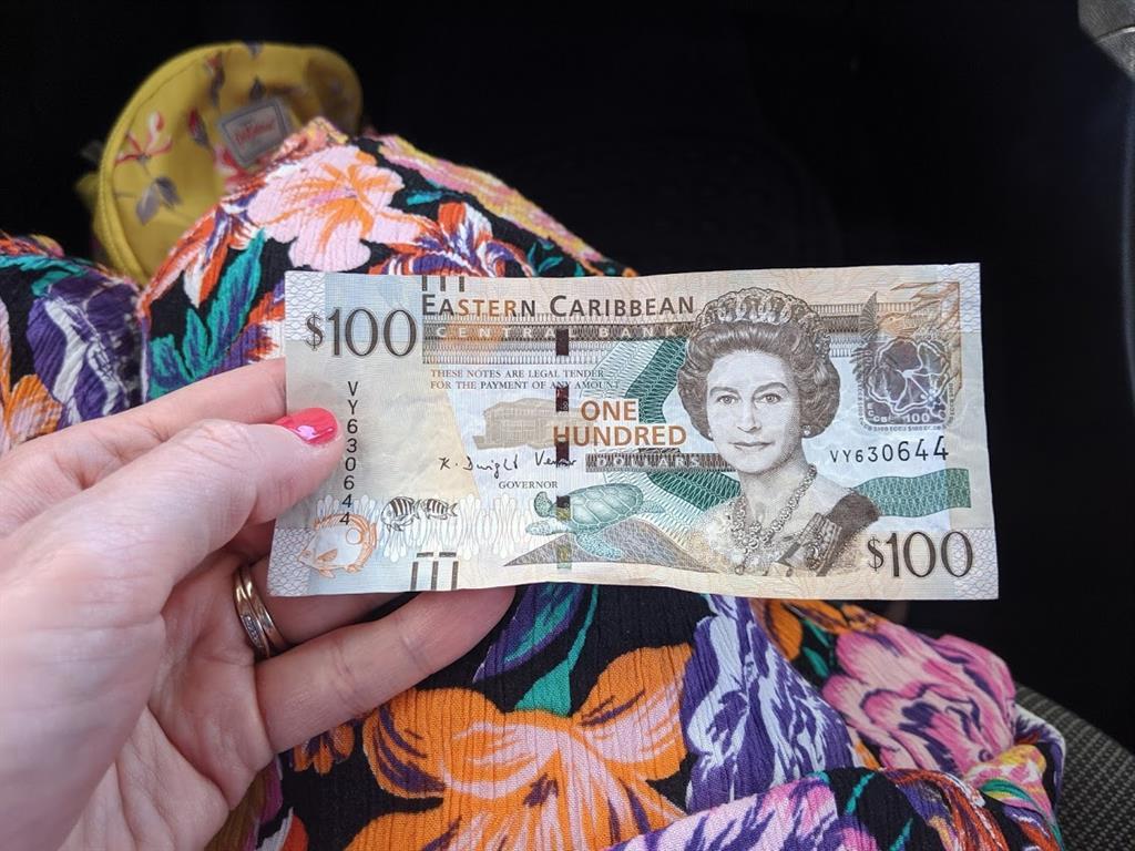 100 Eastern Caribbean dollar