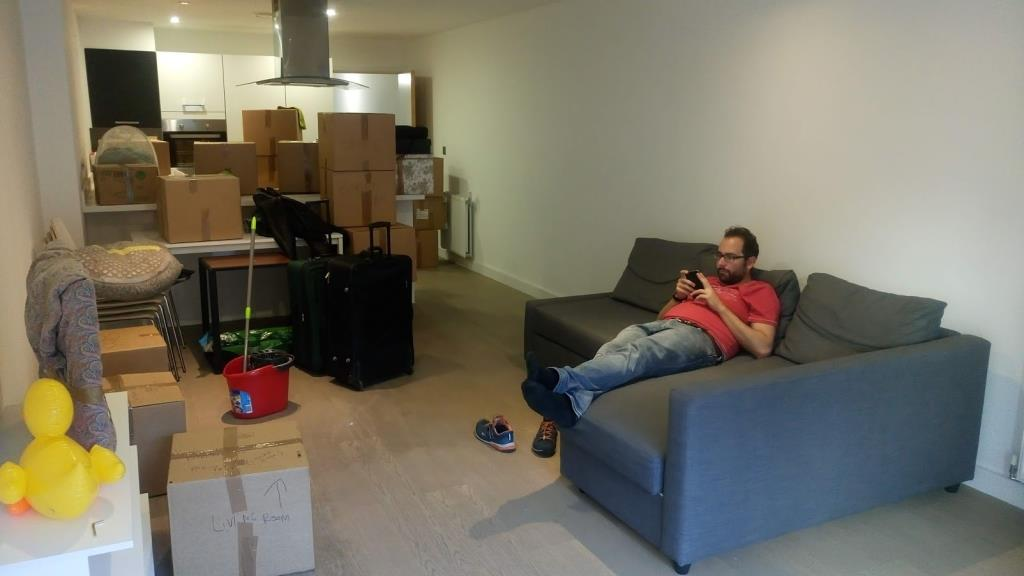 Durante uno dei nostri 5 traslochi, un buon appartamento in affitto