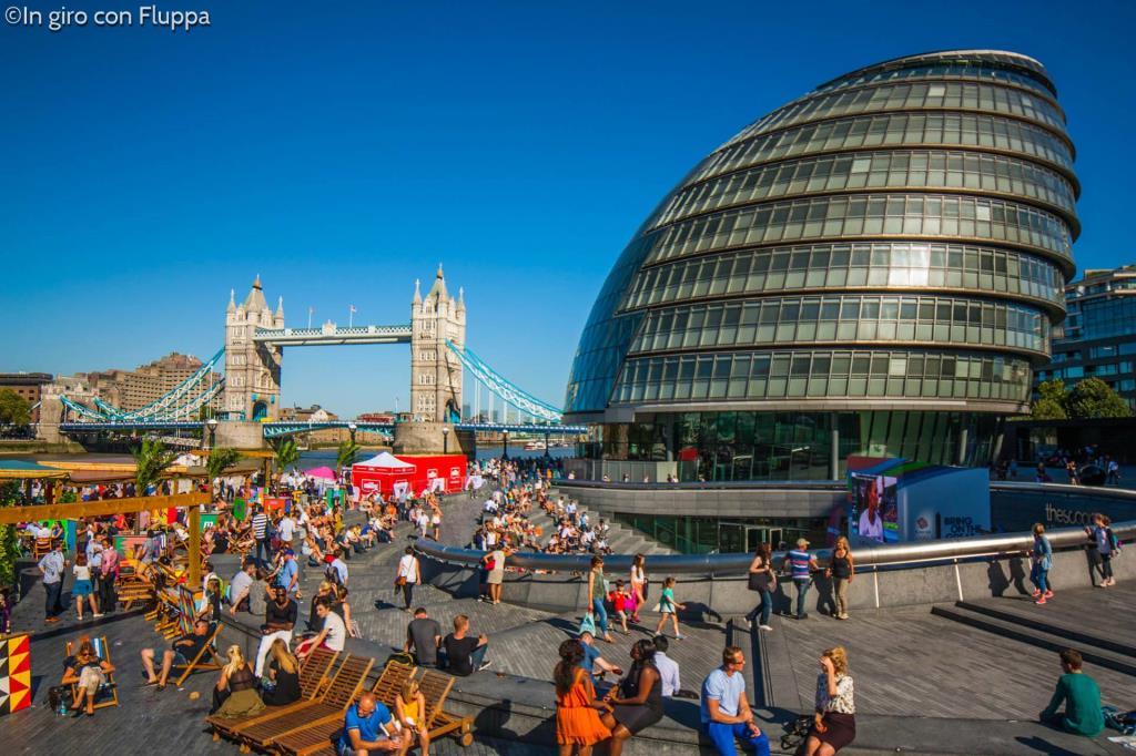 Giornata estiva in centro a Londra