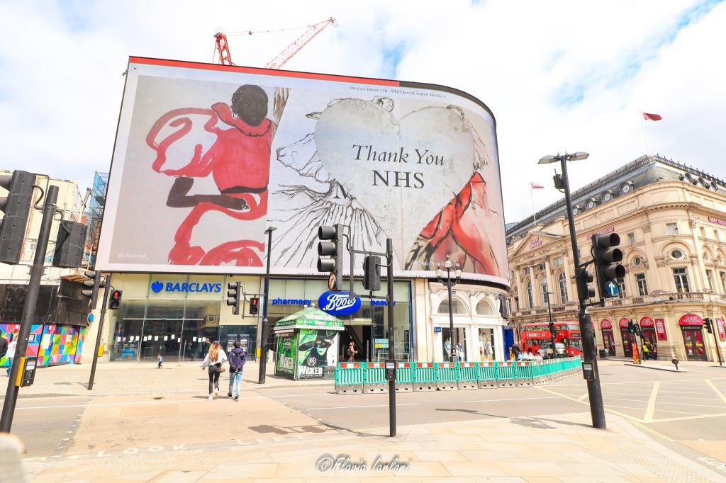 Ringraziamento al servizio sanitario nazionale inglese durante la pandemia