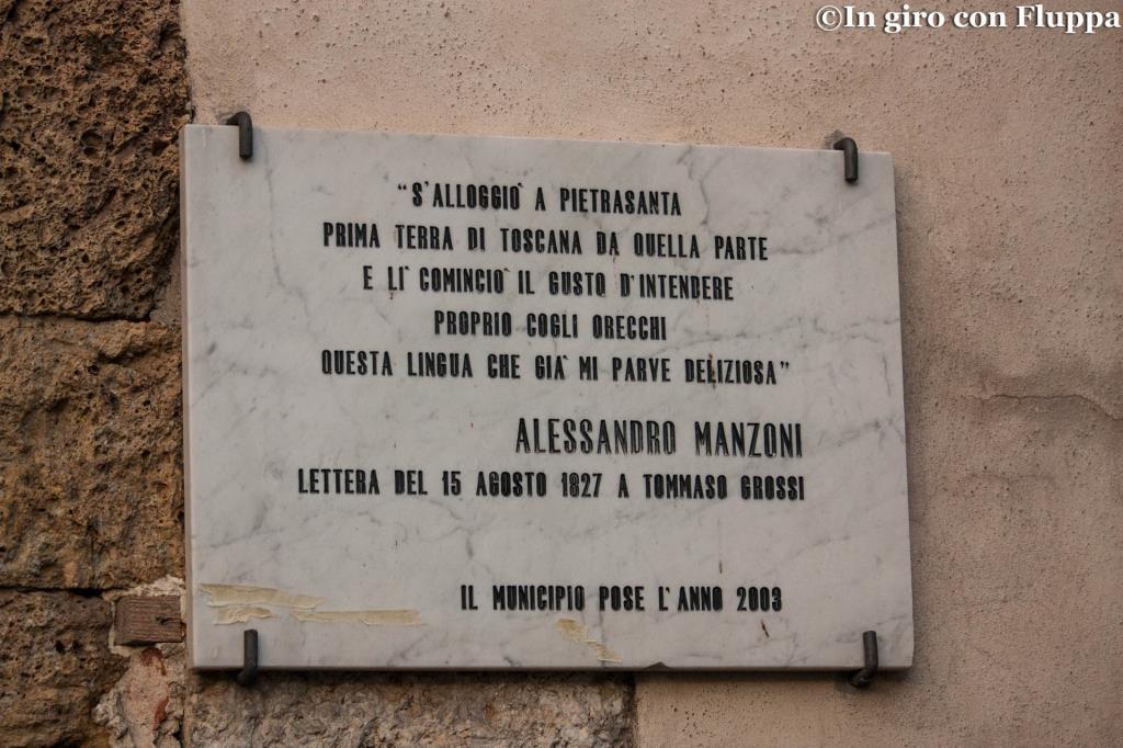 Pietrasanta - placca