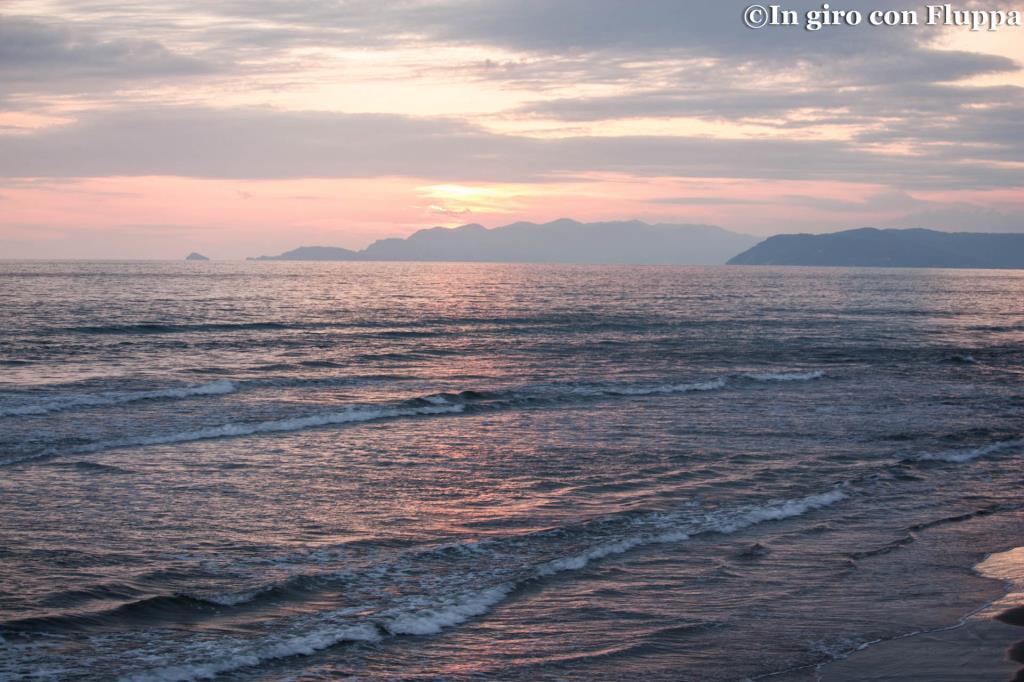 Marina di Pietrasanta - tramonto sul mare