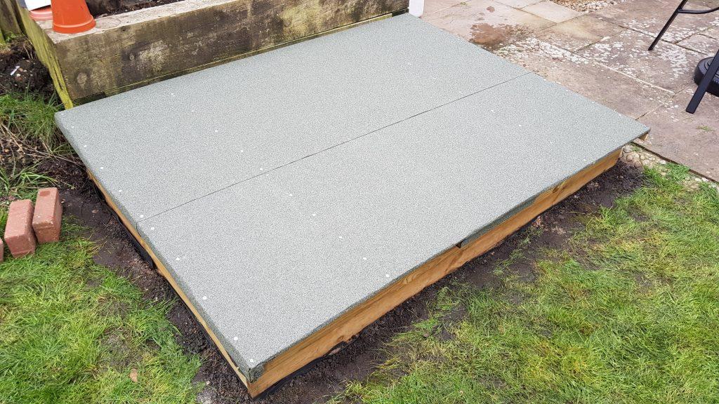 Completed sandpit lid