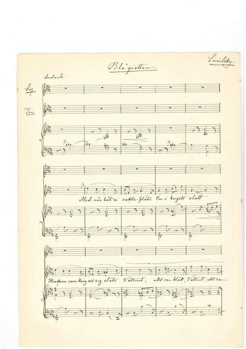 Netzel Laura Bla Grottan Duo For Sopran Och Tenor Vid Forsta Sidan Score Autograph Smh M462 1
