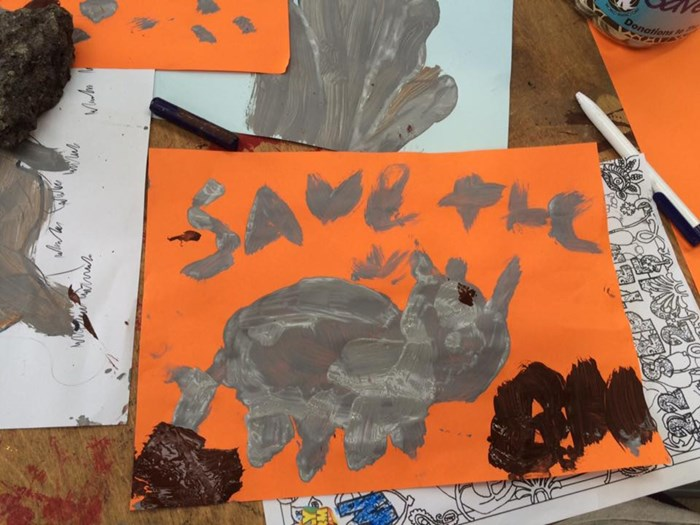 save the rhino painting