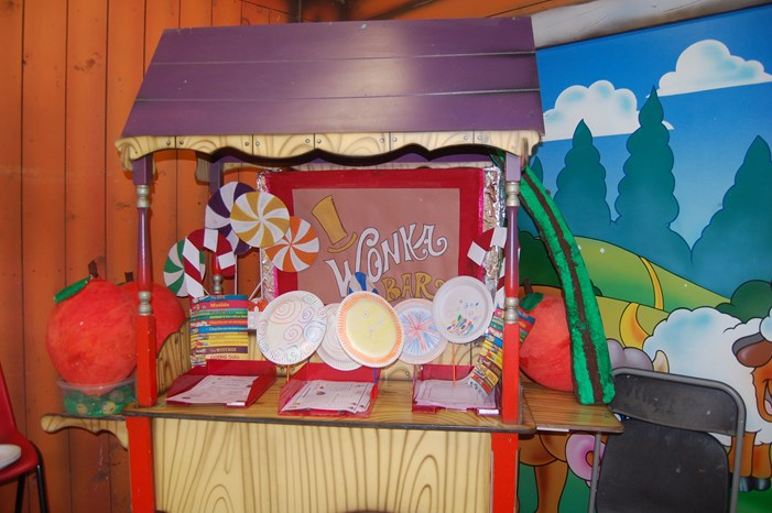 wonka sweet stall in the jolly barn