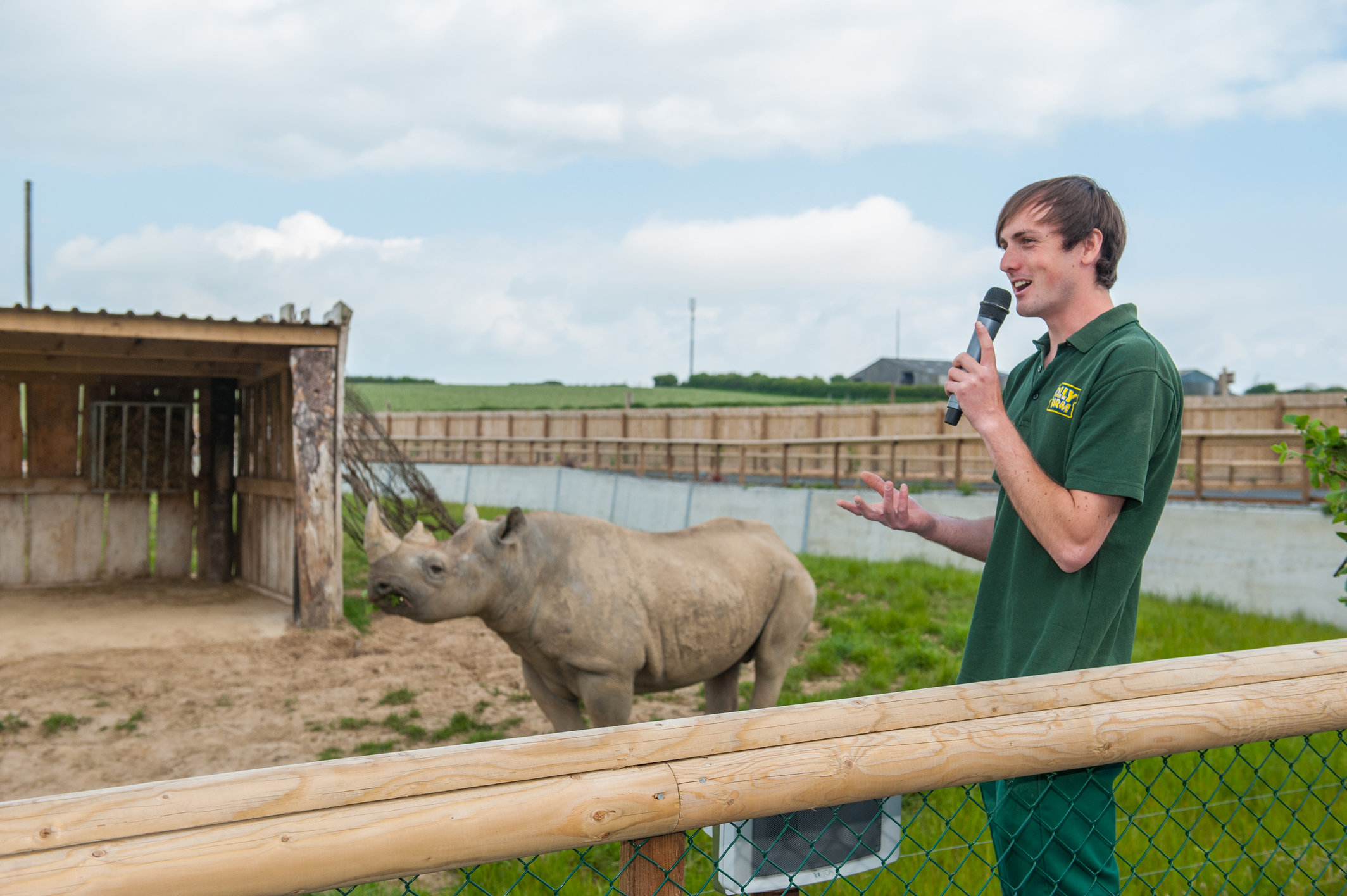 Rhino keeper giving a talk