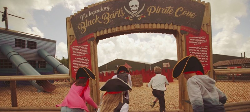 children entering cove black bart film